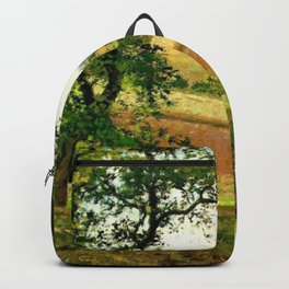 Chestnut Trees At Osny 1873 By Camille Pissarro | Reproduction | Impressionism Painter Backpack