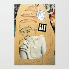 Sliced head Canvas Print