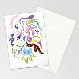 My pieces of invisible worlds II Stationery Cards