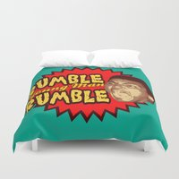 ali gulec Duvet Covers featuring Rumble Young Man Rumble  |  Ali by Silvio Ledbetter