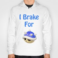 mario kart Hoodies featuring I Brake For Blue Shells (Mario Kart)  by Don Enrique