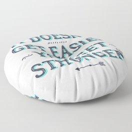 You Get Stronger Inspirational Quote Floor Pillow