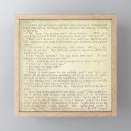 Jane Eyre, Mr. Rochester Proposal by Charlotte Bronte Framed Mini Art Print