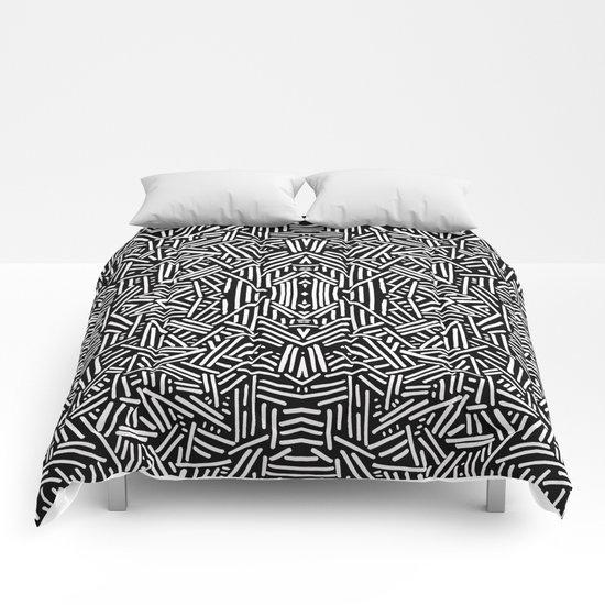 Radiate (BW) Comforters