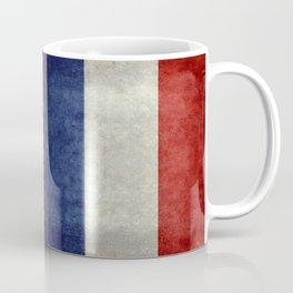 Flag of France, Bright retro style Coffee Mug