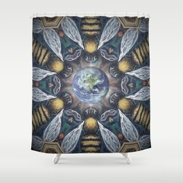 The Keepers of the Garden // Bee Beehive Insect Earth Nature Organic Sustainable Animal Environment Shower Curtain