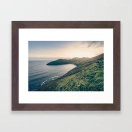 Keem Bay Sunset - nature photography Framed Art Print