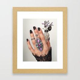 Oak & Amethyst Diadem II Framed Art Print