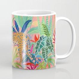 Leopard in Succulent Garden Coffee Mug
