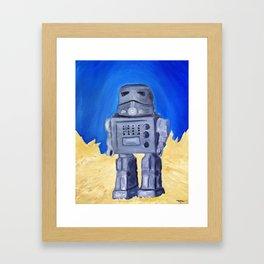 Tin Bot Framed Art Print