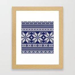 Winter knitted pattern 2 Framed Art Print