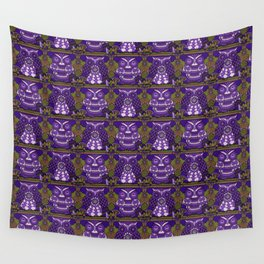 A Parliament of Owls Plum Wall Tapestry