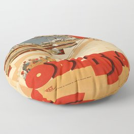 Vintage poster - Odessa Floor Pillow