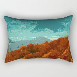 Of Mountains and Forests Rectangular Pillow