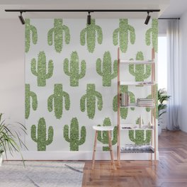 Glitter Cacti Wall Mural