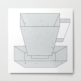 Geometrical line cup drawing Metal Print