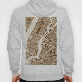 New York City Street Map Hoody