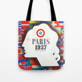 Vintage Paris 1937 Expo Poster Tote Bag