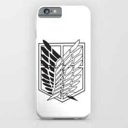 Attack on titan-Wings of freedom- AOT poster- shigenki no kyojin- Levi Acker man, mikasa, historia, Armin, nerd, otaku, geek gifts iPhone Case