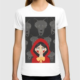 Red riding Hood and the wolf T-shirt