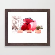 Sculpture face Framed Art Print