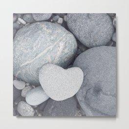 Heart Shaped Rock Metal Print