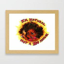 Not a Zoo Animal. Framed Art Print