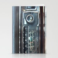 mercedes Stationery Cards featuring Vintage Radio Becker Europa by Premium