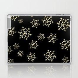Golden Snowflakes Laptop & iPad Skin