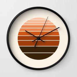 Chilln' - 70s vibes retro throwback minimalist decor 1970's style circle Wall Clock