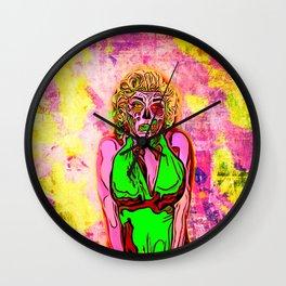 Pop Art Zombie Beauty Wall Clock