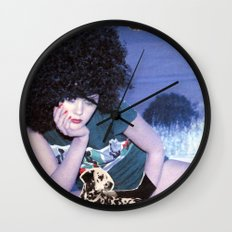 The girl with a bird's nest in her hair Wall Clock