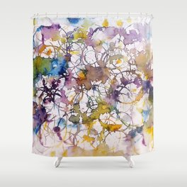 Abstract Sound Shower Curtain