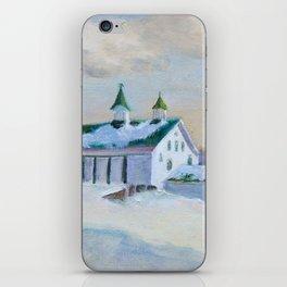 Snowy barn iPhone Skin