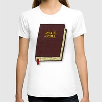 bible T-shirts featuring Rock & Roll Bible by Josh LaFayette