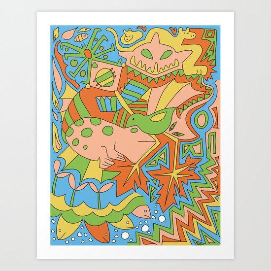 Abstract Animals Art Print