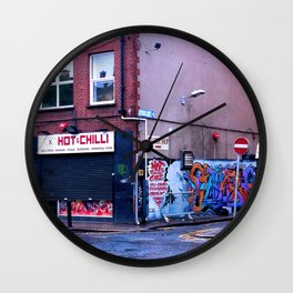 Fresh Urban Rain Wall Clock