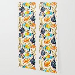 Tropical Toucans – Sepia Palette Wallpaper