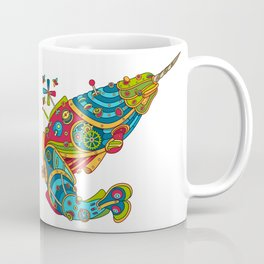 Narwhal, cool art from the AlphaPod Collection Coffee Mug