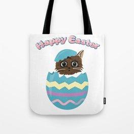 Easter Egg Cat Tote Bag