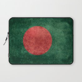 Bangladeshi Flag in retro grunge Laptop Sleeve