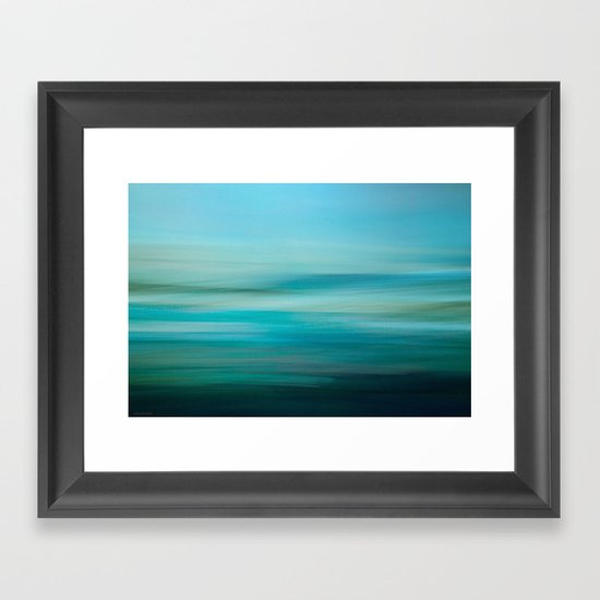 Greenish Blue Sea Framed Art Print