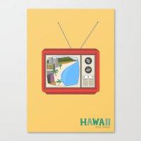 hawaiian Canvas Prints featuring Hawaiian TV by uzualsunday