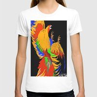 cock T-shirts featuring Cock Fight by Saundra Myles