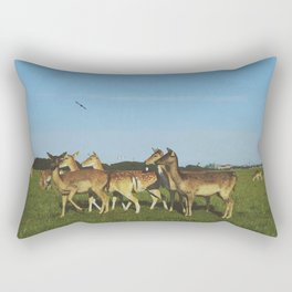 Oh Deer (Artistic/Alternative) Rectangular Pillow