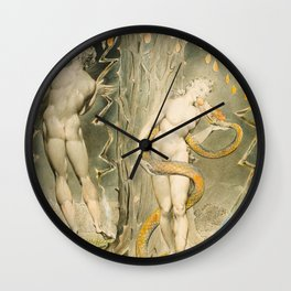 William Blake - The Temptation and Fall of Eve, 1808 Wall Clock