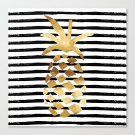 Pineapple & Stripes Canvas Print