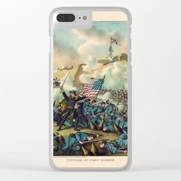 Civil War Capture of Fort Fisher January 15 1865 Clear iPhone Case