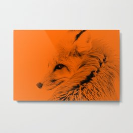 red fox digital acryl painting acrob Metal Print