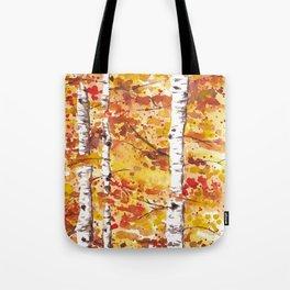 Fall Birch Trees Tote Bag
